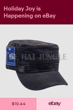 Plain Castro Cadet Hat Military Army Summer Cap Patrol Brim Dyed Denim Black ba120f6f779e