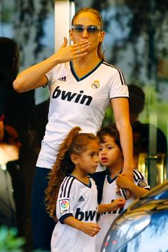 Jennifer Lopez with Max and Emme Anthony in Madrid