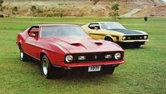 chromjuwelen:  1971 Ford Mustang Mach I and Boss 351 (by coconv)