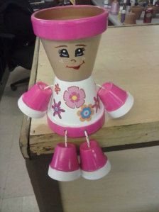 flower pot people on etsy Clay Flower Pots, Flower Pot Crafts, Clay Pots, Clay Pot Projects, Clay Pot Crafts, Diy Clay, Flower Pot People, Clay Pot People, Painted Plant Pots