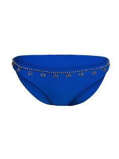 Jasmine Blue Beaded Bikini Bottom - Medium