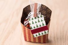The Fry Box die makes treat packaging easy, and so cute!