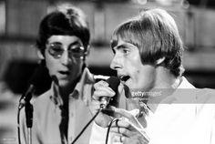 8-10-1966--Photo of Roger DALTREY and The Who, Pete Townshend & Roger Daltrey performing at Wembley Studios Credit: Ivan Keeman