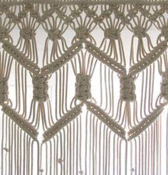 Short Macrame Curtain made with Beige/Cream Cotton Rope ≈5mm(3/16) thick. Dimensions in the photo: W120cm x L90cm ~ W47x L36 Picture no.2 is from a clients house! It can also be made long and can used as a room divider, a wedding backdrop or window treatment and it can be made for a