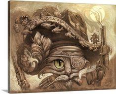Jeff Haynie Premium Thick-Wrap Canvas Wall Art Print entitled Bandito Cat, None