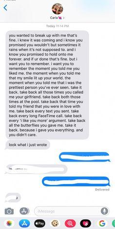 Meinen abschiedsbrief ex freund an Trauriger Text