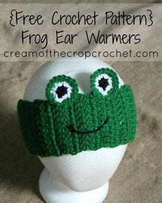 Cream Of The Crop Crochet ~ Frog Ear Warmers {Free Crochet Pattern}