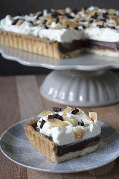 Butterscotch taart | HandmadeHelen Pureed Food Recipes, Baking Recipes, Cake Recipes, Dessert Recipes, Cookie Desserts, Just Desserts, Delicious Desserts, Chocolate Pies, Chocolate Recipes
