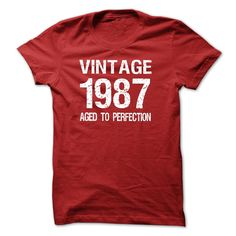 VINTAGE 1987 Aged To Perfection T-Shirts, Hoodies. ADD TO CART ==► Funny Tee…