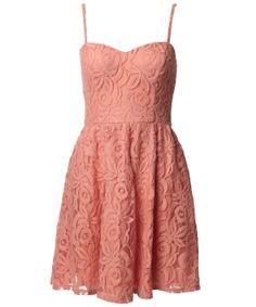 Fire Lace Dress  Pink  $69.50