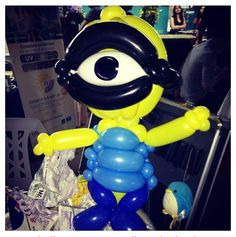 Balloon Minion from Despicable Me.  #Balloon sculpture minion #balloon-sculpture-minion #balloon art minion #balloon-art-minion #balloon twist minion #balloon-twist-minion #balloon character minion #balloon-character-minion #balloon character despicable me #balloon-character-despicable-me #balloon art despicable me #balloon-art-despicable-me