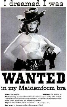 Maidenform Bra advertisement, 1960. °