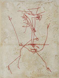 4.21.14   It's Monday, again. Antonio Saura (1930-1998), gravure