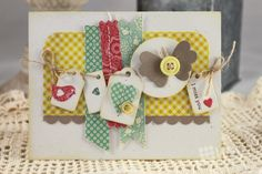 I'm smitten over this card from the WPLUS9 blog!