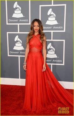 Rihanna - Azzedine Alaia dress [Grammys 2013]