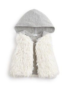 Splendid Infant Girls' Hooded Faux Fur Vest - Sizes 3/6-18/24 Months