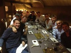 Having dinner with friends in Madrid after a good match today. @dmvc