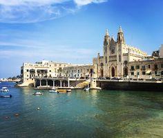 #Carmelite Church on the #ballutabay in #malta # #travel #holishay
