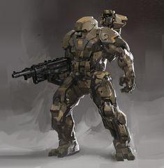 concept robots: Concept robot art by Daryl Mandryk