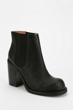 Jeffrey Campbell Cash Heeled Ankle Boot  finally the perfect chelsea boot but goddamn it doesn't have a platform thanks jefffffrey all yr other shoes have platforms why not this one u loser