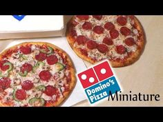 ▶ Domino's Inspired Miniature Pizza - Polymer Clay Tutorial - YouTube