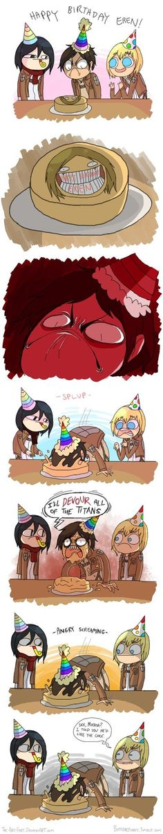 birthday cake #shingekinokyojin #lol