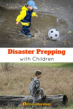 Disaster Prepping with Children. As a parent, there is probably nothing more terrifying than having a disaster strike and not being prepared. Our children are much more susceptible to disasters than we are -- both physically and emotionally -- and it is up to us to make sure they can get through it. This guide covers all aspects of disaster prepping with children from infancy to their teenage years. #emergencypreparedness #survival #prepping #families #children #kit #BOBs