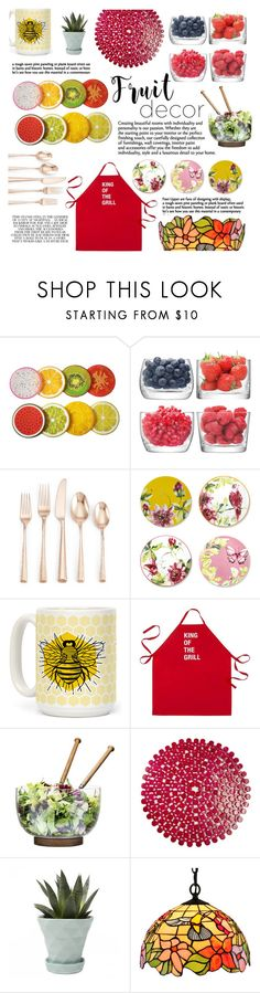 """""""#405 Fruity"""" by mayblooms ❤ liked on Polyvore featuring interior, interiors, interior design, home, home decor, interior decorating, LSA International, Lenox, Laura Ashley and Human"""