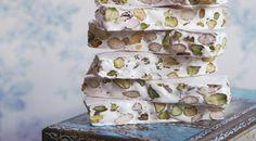 Zachte pistachenoga met rozenwater