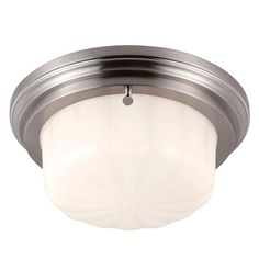 Small Retro Milk Glass Ceiling Light