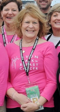 Breast cancer survivor Judy Cherry, 9-city Avon Walk for Breast Cancer Walker and captain of the Solo Strutters team #pinittoendit