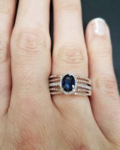 We love our wraps! We just got in this stunning rose gold wrap! Our Love, Ring Designs, Blueberry, Sapphire, Wraps, White Gold, Rose Gold, Engagement Rings, Jewels