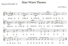 """Third Street Music: Recorder Ensemble - """"Star Wars"""" - Could be good for my advanced recorder students"""