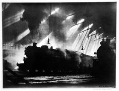 """""""The Spirit of Transportation"""" was taken by Chicago photographer King Daniel Ganaway in February, 1918. It first appeared in the Chicago Defender in 1921 and won the Wanamaker department store national photo contest the same year, beating out photos from legendary photographers Edward Weston, Man Ray and Paul Strand."""