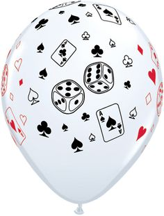 Cards and Dice Latex Balloons/ casino balloons/ poker/ cards / casino Casino Party Decorations, Casino Theme Parties, Party Themes, Party Ideas, Diy Ideas, Casino Royale, Deco Ballon, Las Vegas, Magic Party