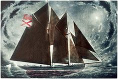 'Leaving for the Labrador', Etching with Hand Colouring - David Blackwood