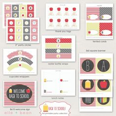 Free back to school printables for students and your children.