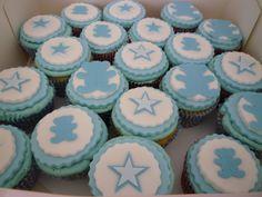 Babyshower cupcakes Cupcake Cakes, Cupcakes, Cake Pops, Babyshower, Fondant, Shower Ideas, Tea Cups, Desserts, Tailgate Desserts