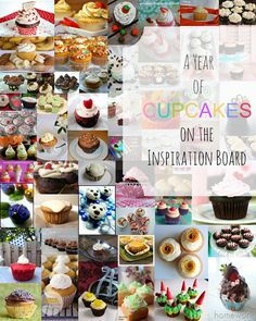 A Year of Cupcakes! - amazing roundup of cupcake recipes from Carolyn's Homework!