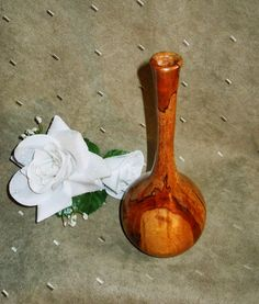 Spalted Maple Dry Bud Vase. #1305. The WoodArt Studio: Studio Gallery