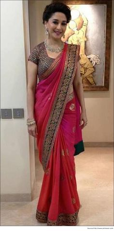 Bollywood Actress Madhuri Dixit in Saree | Designer Sarees