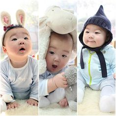 63 Ideas For Funny Baby Korean Funny Jokes For Kids, Funny Memes About Girls, Funny Babies, Cute Babies, Baby Kids, Funny Christmas Songs, Triplet Babies, Superman Kids, Song Triplets