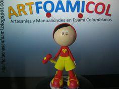 EL CHAPULIN COLORADO EN FOAMY GOMAEVA CON MOLDES Artfoamicol DESCARGA Gr...