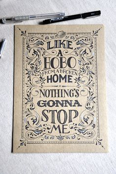 """Lettering of """"Like a Hobo"""" song by Samy Halim"""
