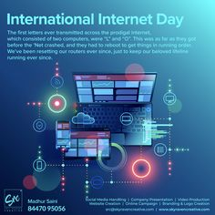 International Internet Day Is Celebrated Worldwide Every Year On The 29th Of October Since The Year 2005 The Intern Day Commemoration Social Media Marketing