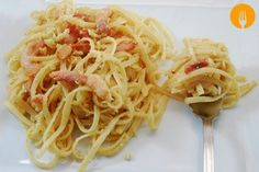 Pasta carbonara casera http://www.cocina-casera.com/2015/02/receta-pasta-carbonara-casera.html