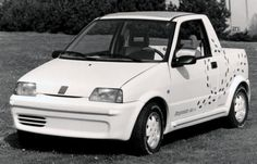 http://chicerman.com  carsthatnevermadeit:  Fiat Cinquecento 4x4 Pick-Up 1992 by Pininfarina. An all wheel drive utility version with a rear rumble-seat  #cars