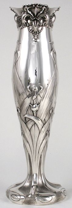 Theodore B. Starr Sterling Art Nouveau vase ~ 1900-1910