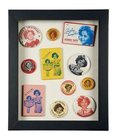 Espejos de cartera y recuerdos de Shirley Temple