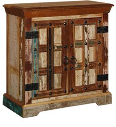 Credenza Multicolore Legno massello di sheesham CS-184276 X 76 X 35 CM | Arts of India – Italy